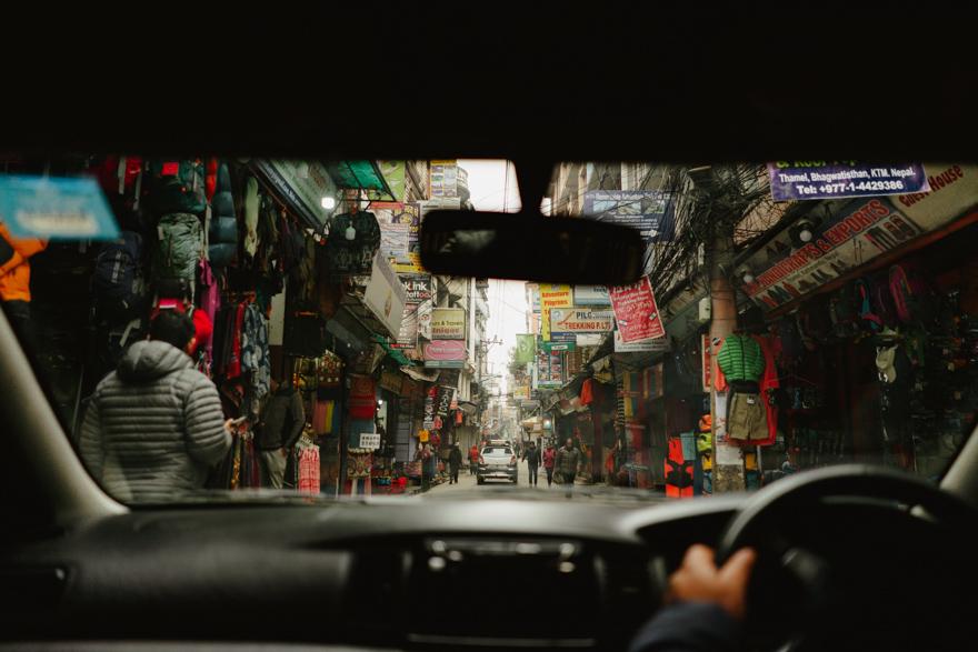 Strada aglomerata in Nepal