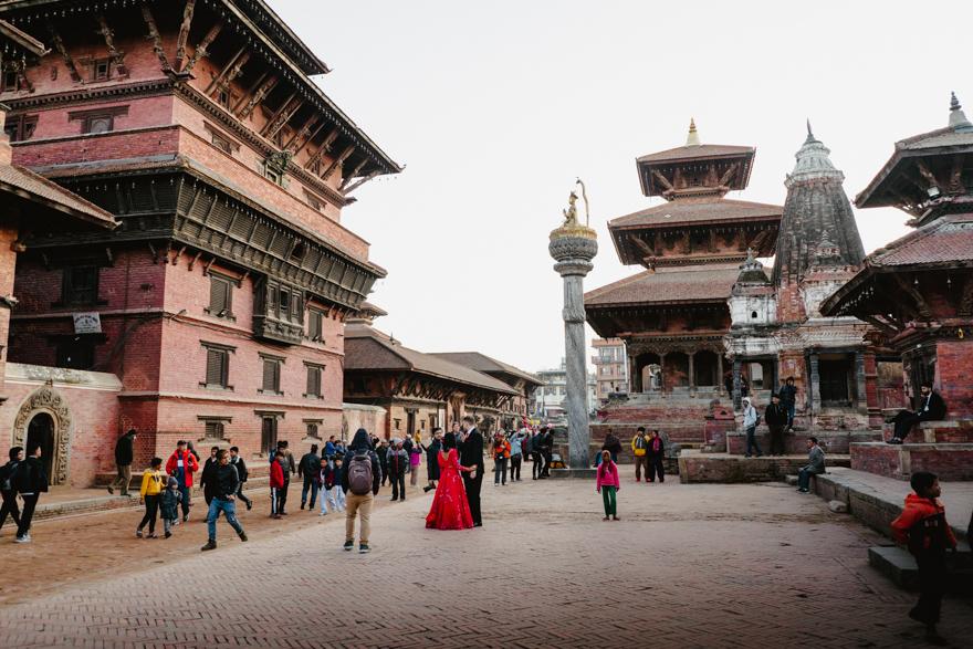 Piata Durbar din Patan Nepal