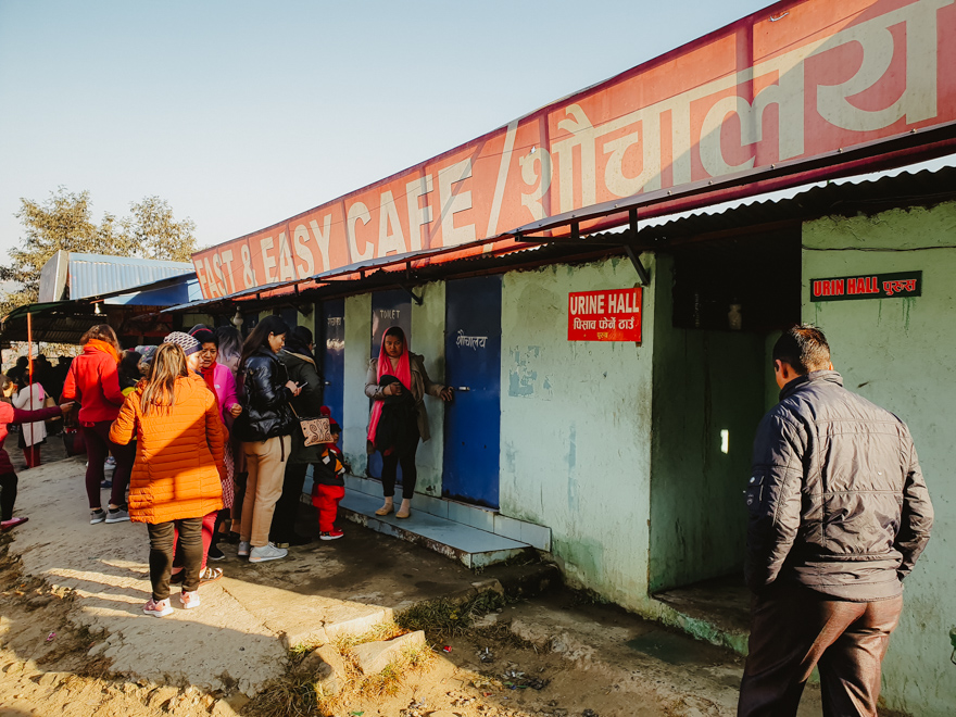 Toaleta publica in Nepal