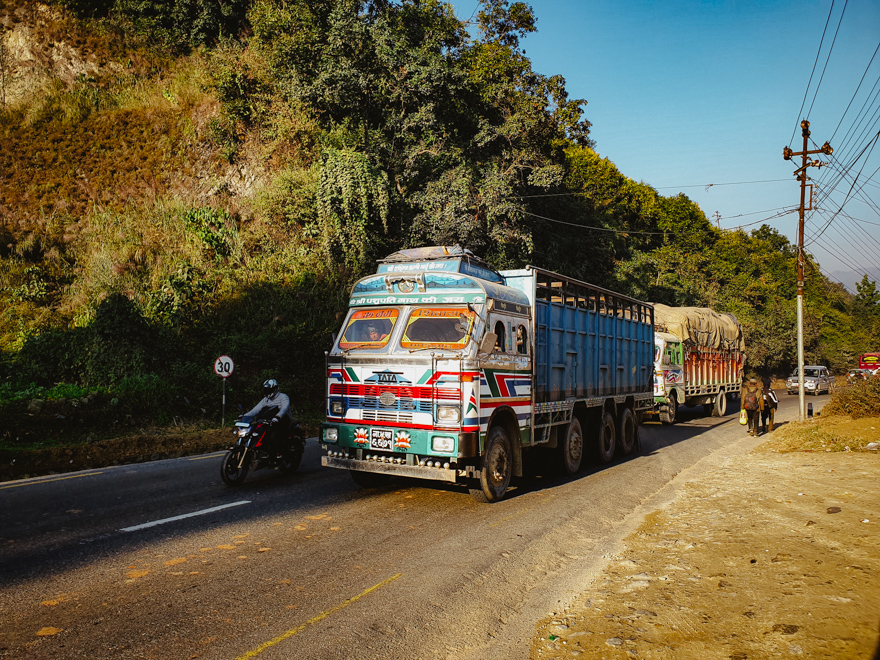 Camion in Nepal