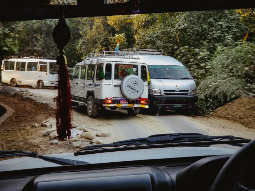 Drum foarte ingust in Pokhara