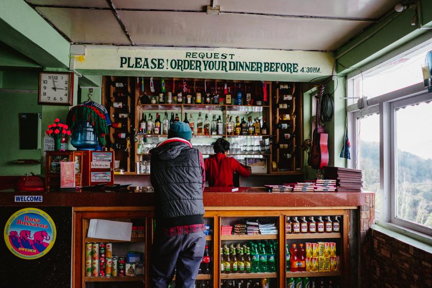 Bar in cabana in Nepal