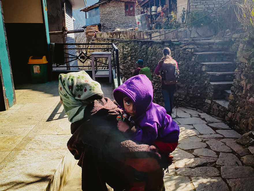 Child and mother in Nepal