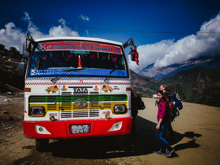 Autobuz local in Ghorepani, Nepal