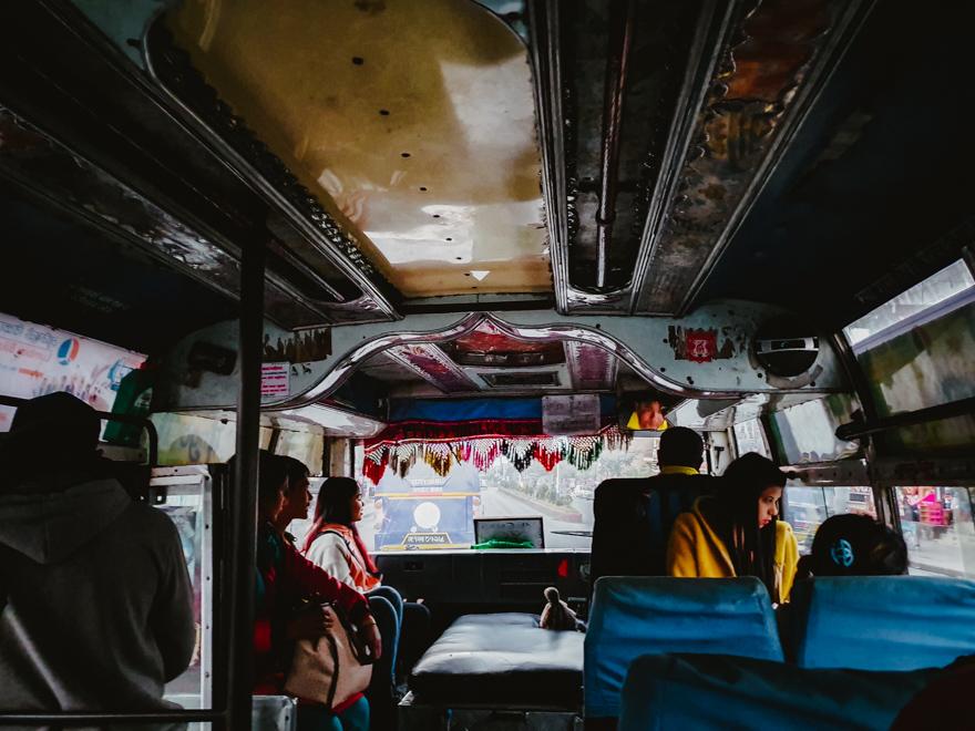 Local bus in Ghorepani, Nepal