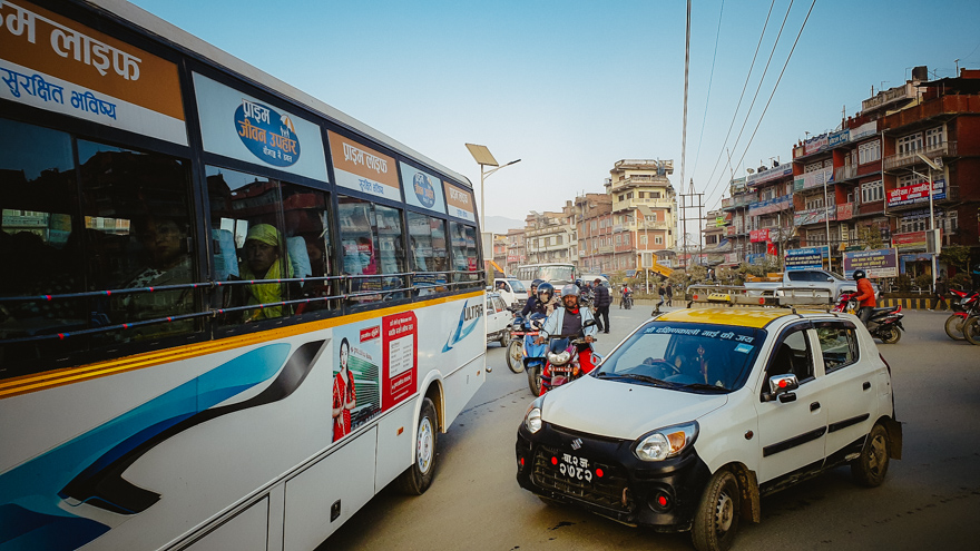 Trafic in Nepal