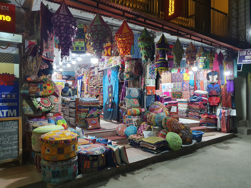 Textile in Thamel, Nepal