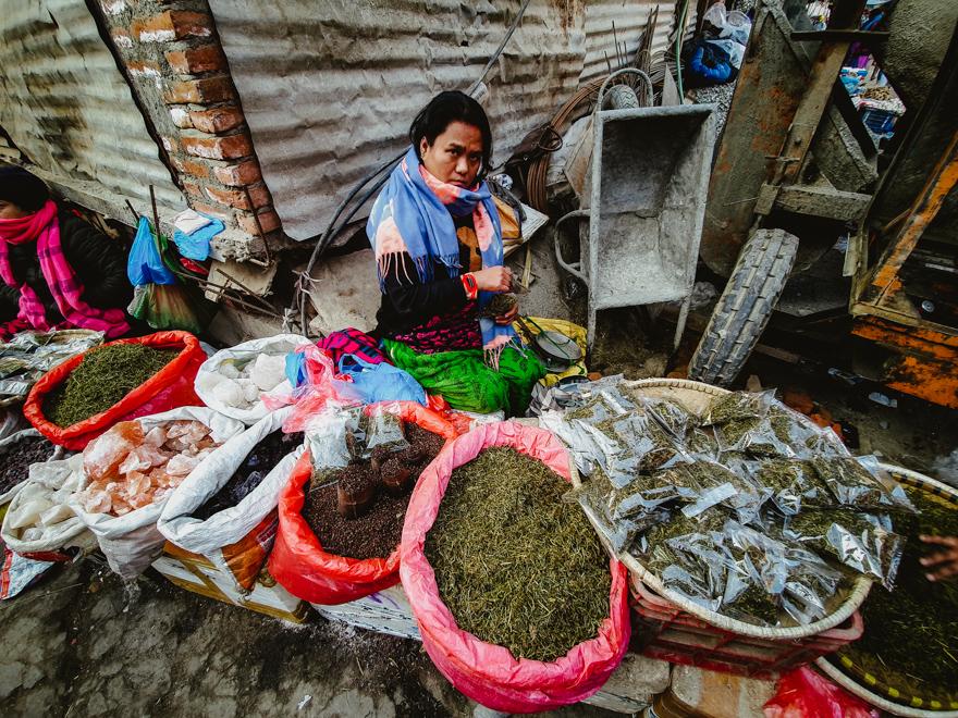 Condimente in Asan Thamel, Nepal